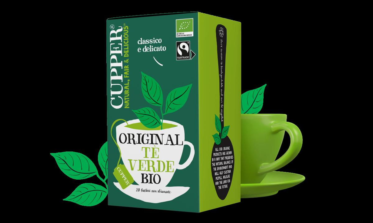 Tè verde biologico e fairtrade