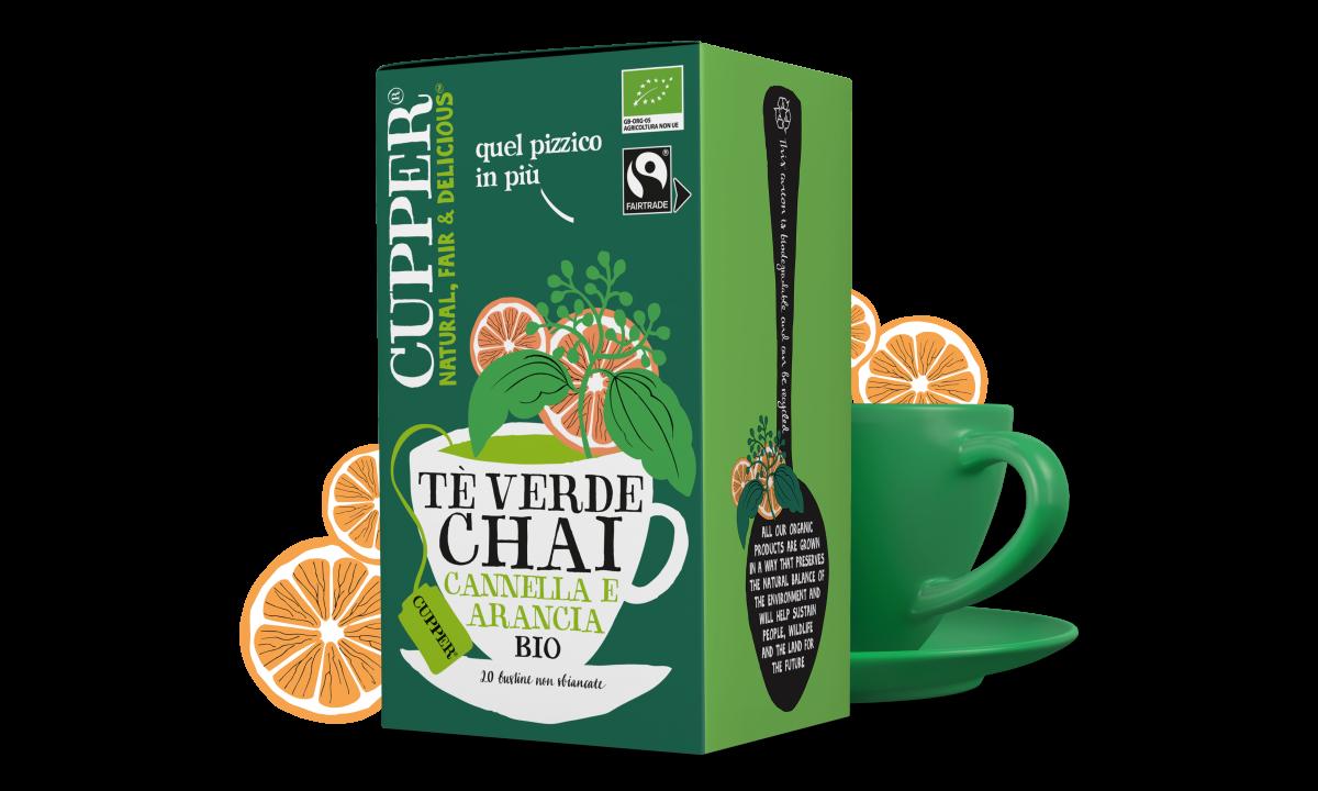 Tè verde chai biologico e fairtrade