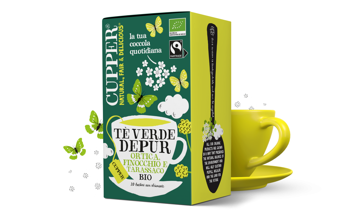 Tè verde depur biologico e fairtrade