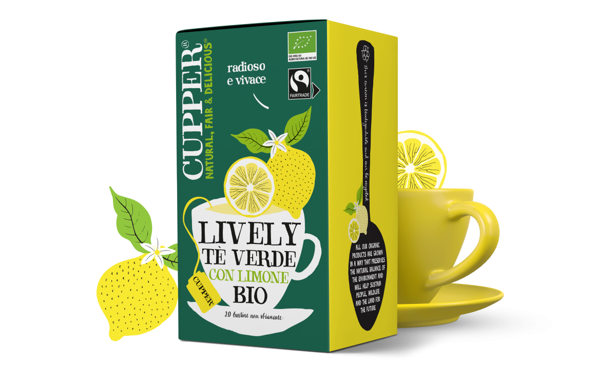 Tè verde al limone biologico e fairtrade