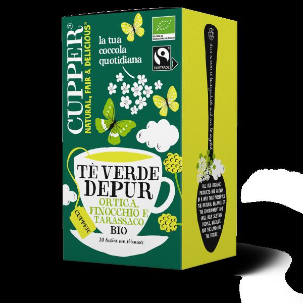 Tè verde depur biologico e fairtrade