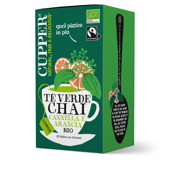 Tè verde chai biologico e fairtrade